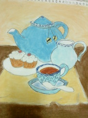 ~ (Leen Ob ~) Tags: water cake by tea pastel draw