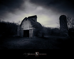 There Were Better Days (Loren Zemlicka) Tags: november autumn trees sky blackandwhite bw fall wisconsin clouds barn rural dark landscape photography photo midwest image farm country picture silo explore 2008 avon canonef1740mmf4lusm ruraldecay canoneos5d flickrexplore flickrfrontpage lorenzemlicka