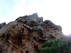 Vire du Castellu : la paroi sommitale au-dessus de la vire