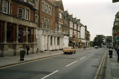Old bank buildings, Southend-on-Sea. Sep 1985 (piktaker) Tags: uk essex southend southendhighstreet southendonsea natwestbank barclaysbank tomassis cotgroves