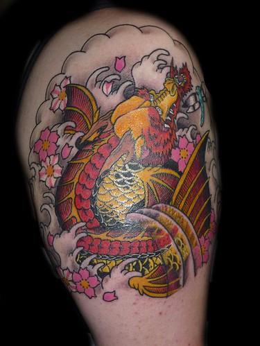 Koi dragon tattoo dragon tattoo japanese tattoo cherry blossom tattoo water