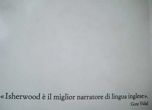 Christopher Isherwood, La violetta del Prater, Einaudi 1988, q. di cop., (part.)