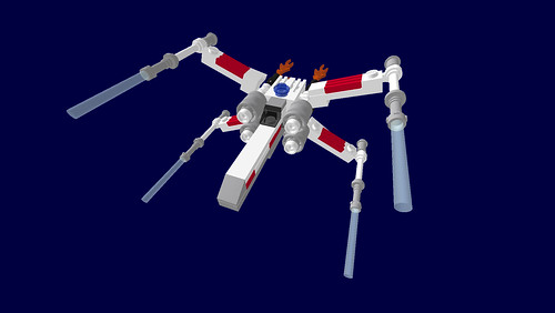 Tricked-out Micro X-Wing Fighter (LDD)