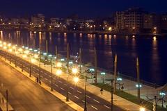 Street Lights (MS4d) Tags: road street lamp river palms egypt palm nile egyptian        alaasar