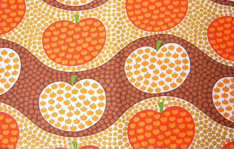 vintage fabric / apples