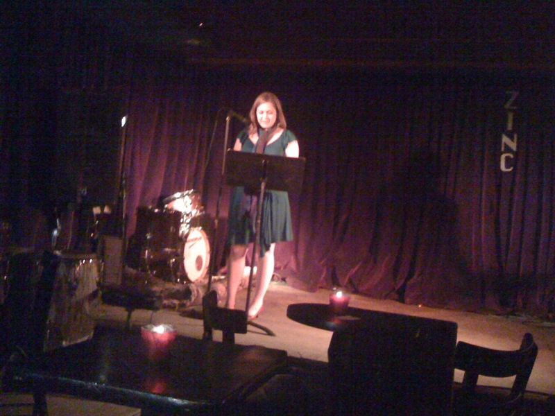 Jessica reading at Zinc Bar