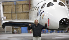 Richard Branson with VSS Enterprise_Mark Greenberg (Virgin Galactic) Tags: ca ss2 mojaveca vssenterprise ricahrdbranson burtrutanspacetravelmojave