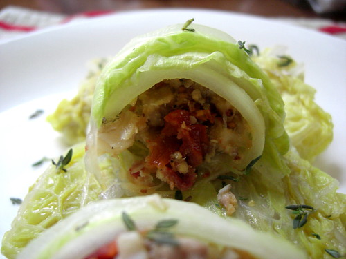 Rolls with fish and sun-dried tomatoes