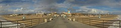 Huntington Beach Pier Panorama (Greg Nutt) Tags: california park ca blue winter sky water clouds eos pier daylight downtown sur