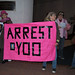 Code Pink protests John Yoo at the Commonwealth Club