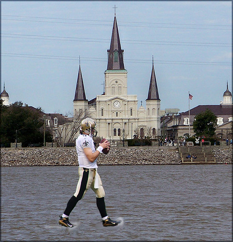 Drew Brees Walks on Water