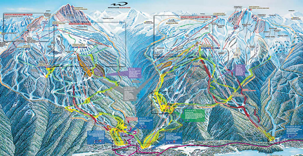 Whistler Blackcomb Trail Map