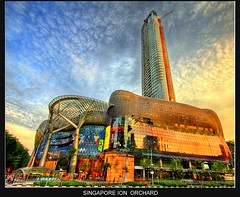 Singapore ION Orchard (Kenny Teo (zoompict)) Tags: blue light sunset sky orange reflection building tower art tourism beautiful skyline architecture sunrise canon wonderful lens landscape photo scenery neon photographer view dramatic grand orchard tourist best shoppingmall getty latest wanted kenny luxury hdr  ion neonlight architecturebuilding maill iconicbuilding luxurylifestyle ionorchard luxuryshopping zoompict singaporeionorchard singaporelowerpiercereservoir