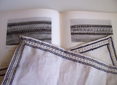 Embroidery from Sture Shirt #1 (Ragnvaeig) Tags: linen embroidery projects drawnthread sture