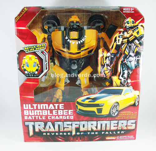 Transformers Bumblebee RotF Ultimate Battle Charged - caja