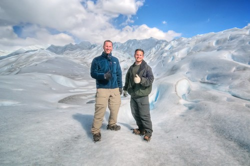 Doug & Jeff on Perito Moreno