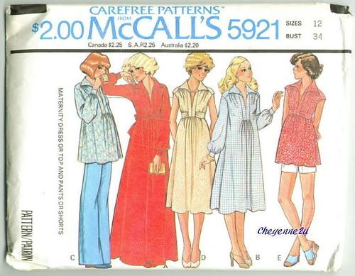Vintage McCalls 5921 Maternity Wardrobe