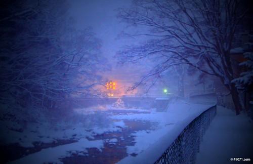 積雪20CM超えました;四万温泉