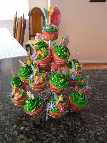 Cupcakes de tinkerbell - Imagui