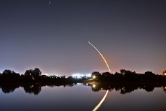 Godspeed Endeavour! STS-130 Night Launch from Tampa (Damgaard, (TheObsessivePhotographer.com)) Tags: longexposure usa lake reflection night tampa florida nasa clear explore shuttle kennedyspacecenter launch spaceshuttle frontpage endeavour spaceprogram spaceshuttleendeavour sts130