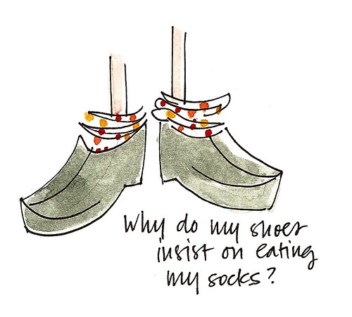 sock-eating shoes
