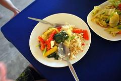 Best Thai Food Ever (mynameisharsha) Tags: trip travel vacation food chicken thailand soup nikon rice bangkok pork rings thai noodles seafood onion spaghetti phuket cutlery pattaya d60 babycorn 1855mmf3556gvr mynameisharsha