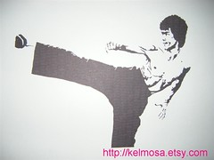 brucelee 003 (Large) (Kelmosa) Tags: blackandwhite art silhouette fighter dragon drawing karate marker celebrities sharpie brucelee blackbelt martialartist enterthedragon