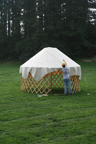 Fitting Yurt Roof Cover