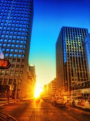 Tokyo Morning Commute (/\ltus) Tags: morning japan sunrise lumix tokyo panasonic commute handheld hdr 3xp japanhdr dmcfx35 ghostedtraffic