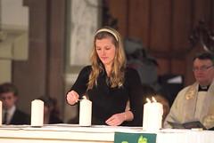 mw100124 (48) (Isle of Man Newspapers) Tags: holocaust memorial candles catholic prayer religion jewish service kippa chuirch