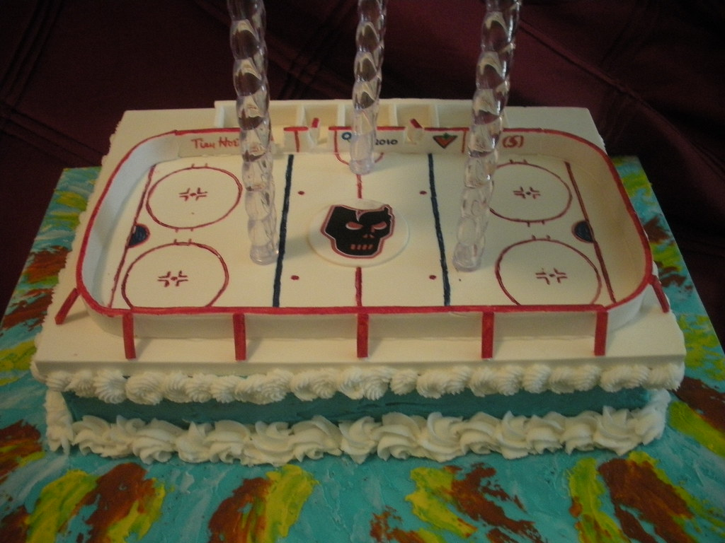 Ice Hockey Arena Cake by Wolfbay Cafe
