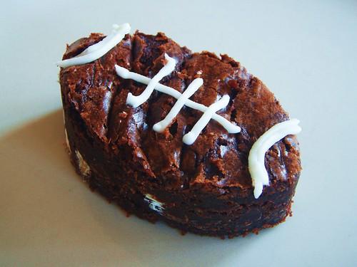 ina garten - outrageous brownies - football shaped (super bowl) - 17