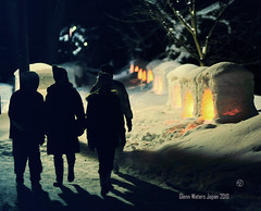 Snow Festival (Hirosaki Japan).  Glenn Waters..   Over 13,000 visits to this photo. (Glenn Waters in Japan.) Tags: winter people snow castle silhouette japan night japanese nikon explore lanterns  hirosaki       explored  nikkor85mmf14d d700 nikond700  glennwaters