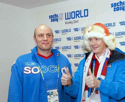 Was the fancy hat part of the secret deal Vancouver cut with the Russians to win the 2010 Winter Olympics? Vancouver 2010 chief John Furlong tours Sochi World, Russky Dom