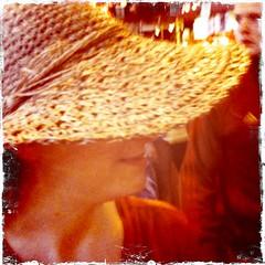 Alexis with new hat: khao san road (thirtyoneteeth) Tags: hat thailand bangkok iphone khaosanroad flybutter hipstamatic