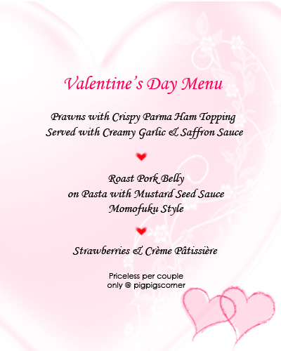 V-day menu 2010