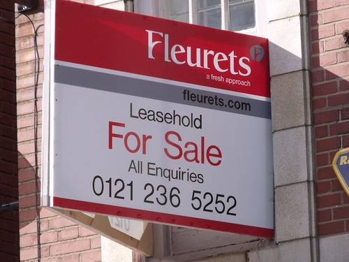 The White Swan, Grosvenor Street West - Fleurets - Leasehold For Sale sign