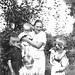 1937 Lida Egler holding David Henney, Betty Browning in dark dress, Marilyn in front, Marvin Egler holding the dog