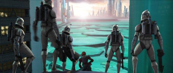 Clones liderados poa Anakin.