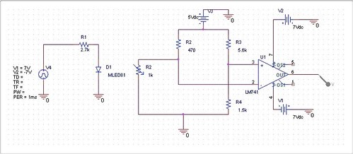 Optical connection schematic
