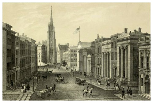 028-Wall Street-New York en 1850-The Eno collection of New York City-NYPL