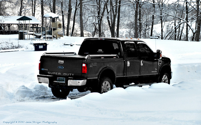 snow ford lariat 2008 f350