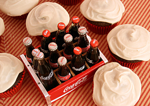 Things go better with Coca-Cola Cupcakes!