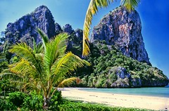 West Railay beach .. Krabi Thailand .. 1988