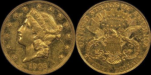 1905 $20.00 PCGS Proof 55