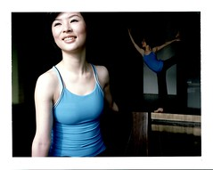 Portraits of Yoga Teachers - Lilian (*helloharry*) Tags: china film yoga project polaroid holga lomo exposure fuji shanghai exercise double teacher type instant om expired fitness asana impossible namaste instax 669 mudra intant 664 fp100c yplus giambarba