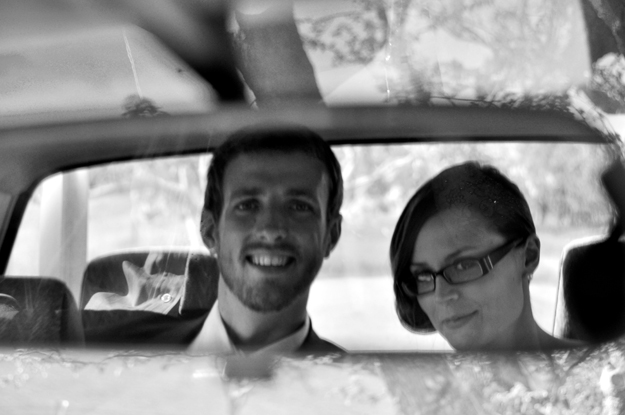 A&C in car b&w