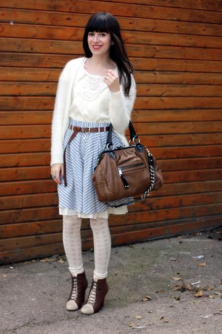חצאית פסים זארה