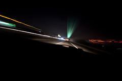 Next Exit (Rudy Malmquist) Tags: light sign night evening michigan grand rapids exit streaks us131