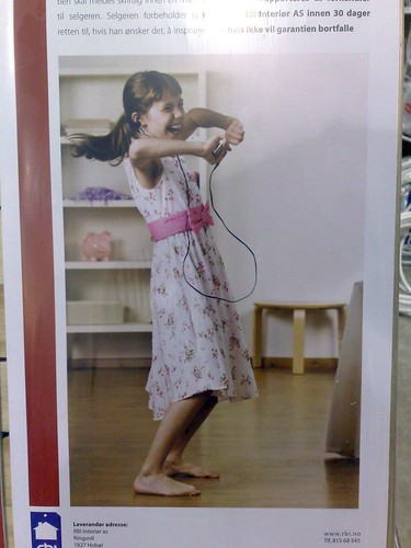 Little girl electrocuting herself